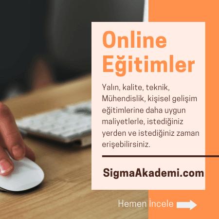 SigmaAkademi Online Eğitimler