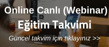 Online Canlı Webinar Eğitim Takvimi
